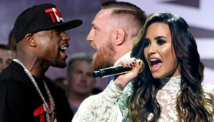 Demi Lovato anthem Mayweather vs McGregor