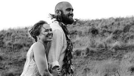 Ronda Rousey and Travis Browne wedding photo
