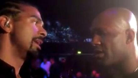 David Haye and Jimi Manuwa at BAMMA 31