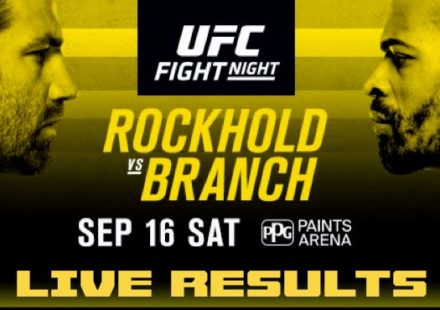 UFC Rockhold vs Branch Live Results
